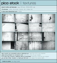 Black'n'White Wall Textures by pica-stock