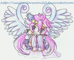 ..::Art Trade - Valorie Goddess Chibi::.. by usagisailormoon20