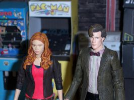 The Doctor and Amy in the Arcade by MisterBill82