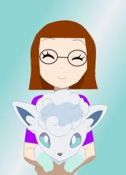 Me with Alolan Vulpix by SusanLucarioFan16