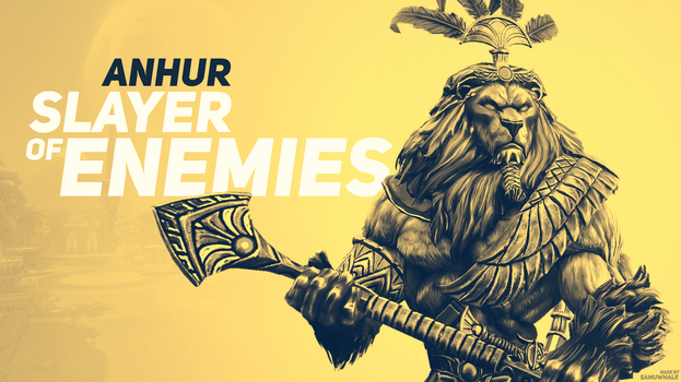 Smite Anhur wallpaper by Samuwhale