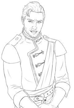 Cullen Rutherford - Lineart by InkieRose