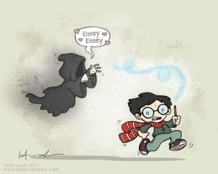 potter vs the dementor's kiss by katiecandraw