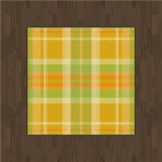 Ash Flooring And Tartan Rug (yellow) by Rosemoji