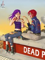 Commission: Cellophane Revenge and Party Poison by NadzEscapade