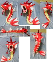 Shiny Red Gyarados (commission + for sale) by Rens-twin