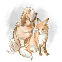The fox and the hound by RamonaForever