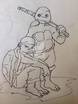 Preteen Raph and Leo by mianewarcher