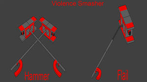 Snowhound Unit Weapons: Violence Smasher by Accel-Phoenix