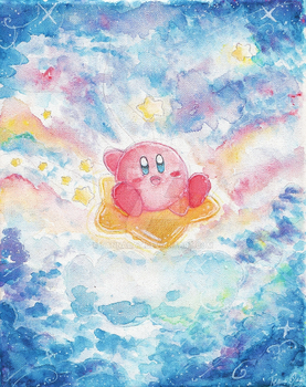 Watercolor Kirby by TannaCat