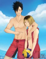 Haikyuu!!: Kuroo and Kenma (Print) by reincarnationz