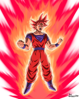 Super Saiyan God Kaioken Goku by Gavwav