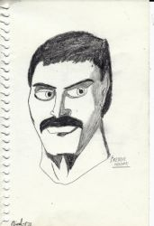 Freddie Mercury portrait by Arak-8
