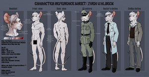 Character Reference Sheet: Zven Waldeck by Amaryllex