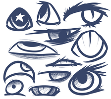 Eyes Sketch by Elana-01
