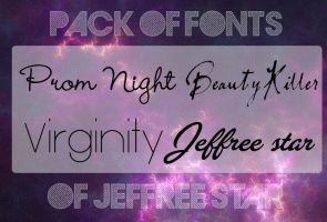 Pack of Fonts: Jeffreee Star by xthebrunorgasticx