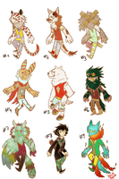 Closed adoptables batch! ^^ by Aquila-Adopts
