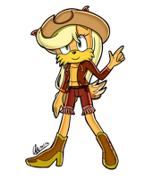 applejack SA style(cayote) by mysteryArt716