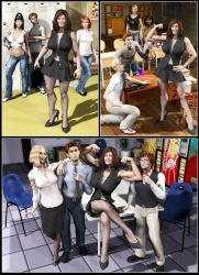 Silent Muscle Giantess Comic 06 by Stone3D