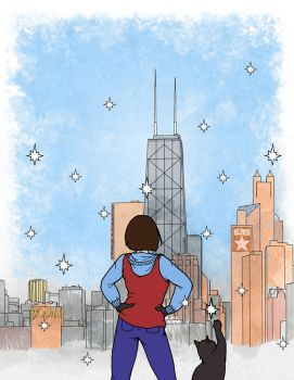 Chicago Christmas Card by EPBJewelry