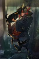 Samurai Pirate Cat by ViridRain