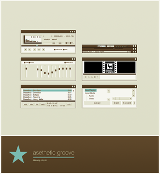 Aesthetic Groove for Winamp by heylove