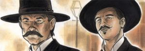 Tombstone Wyatt Earp and Doc Holiday Sketch Cards by timshinn73