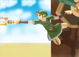 Link with double crawshot - Skyward Sword by Innocent-Jay