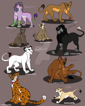 Adopted lion characters by Cynderthedragon5768