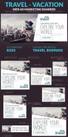 PreviewTravel - Vacation Web Ad Marketing Banners by webduckdesign