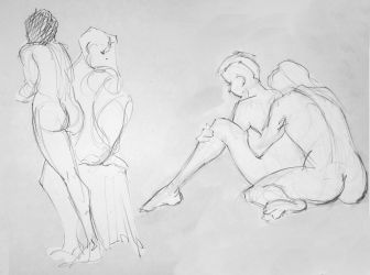 Life drawing - April 2018 by Gizmoatwork