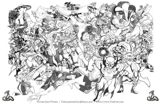 Xmen Pencils by thelearningcurv