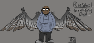 Russel Winged AU Ref by Ashesfordayz