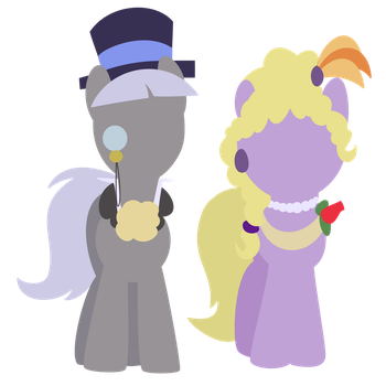 Caesar and Lyrica by thecoltalition