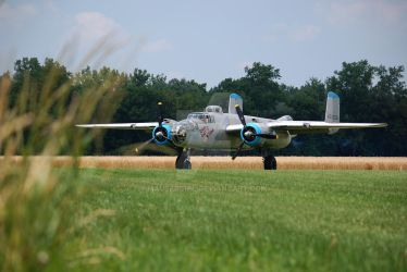 B-25 on the Ground by MauserGirl
