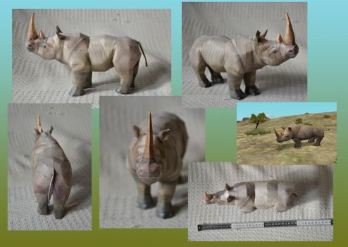 Zoo Tycoon Paper Collection - White Rhinoceros by DrWheelieMobile