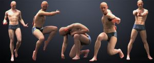 5pack Male Poses by inspiring-references