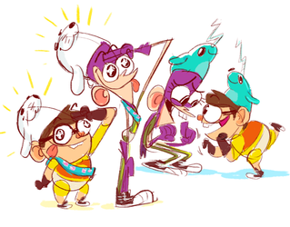 Cubs and Narwhals by chainsawrockets