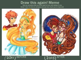 Draw this again meme - Thumbelina by chocoanillaberry