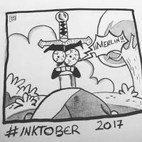 Inktober 2017, Day 6, Sword by maestromakhan