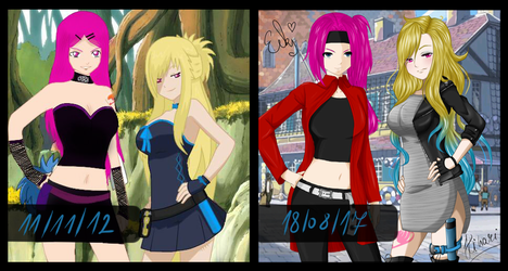  Open Collab  5 years comparison - 2012/2017 by BlueLightningHikachu