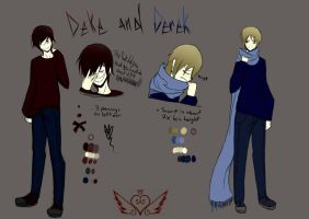 Deke and Derek Reference by OpalesquePrincess