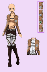 BASE 72 - Attack on Titan uniform-youngerfemalever by Rainfall-Bases