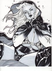 Lady Death by Josh -copic marker by ComicVisionz