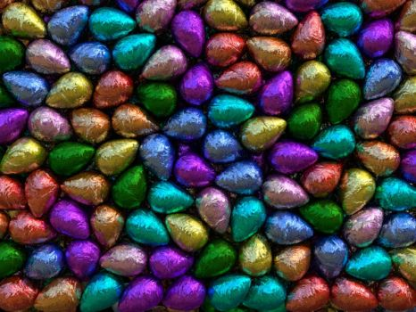 Wall of easter eggs by Genieto