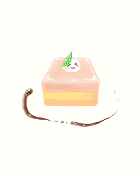 Eat the cake not neko!!! (used reference)