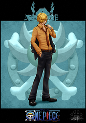 One Piece cards : Sanji by Lily-Fu
