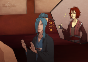HLV Chapter 1.5 Drinking Contest! Fox-Sword-Monk by XxYorunoHimexX