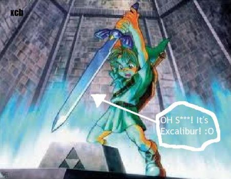 Link's Master Sword is Excalibur! by Anichhik