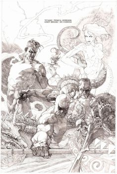 Titans cover- Pencil version by andybrase